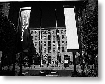 Entrance To The Albert Dock And Beatles Museum Liverpool Merseyside England Uk Metal Print by Joe Fox