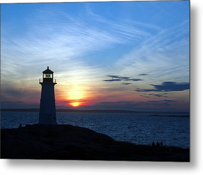 Evening At Peggy's Cove Metal Print by George Cousins