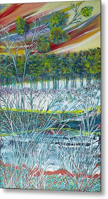 Exotic Landscape  Metal Print by Sima Amid Wewetzer