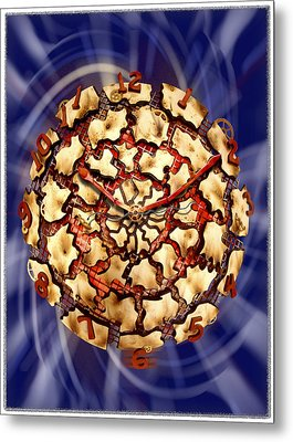 Exploding Clock Metal Print by Mike McGlothlen
