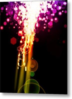 Explosion Of Lights Metal Print by Setsiri Silapasuwanchai
