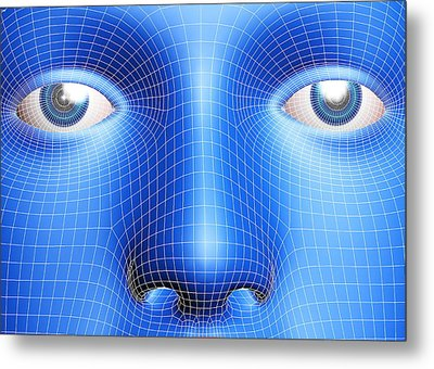 Face Biometrics Metal Print by Pasieka
