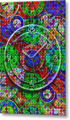 Faces Of Time 3 Metal Print
