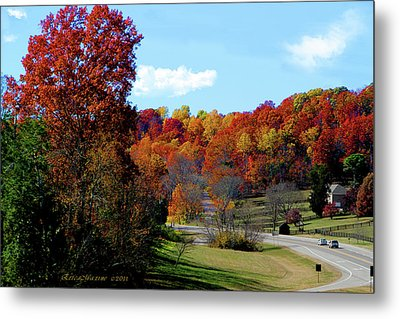 Fall Drive In Tennessee Metal Print by EricaMaxine  Price