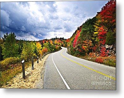 Fall Highway Metal Print