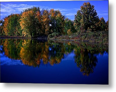 Fall Reflections Metal Print by Andre Faubert