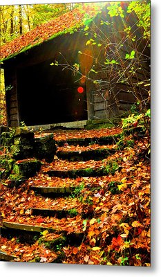 fall time in Ithaca New York.  Metal Print by Puzzles Shum