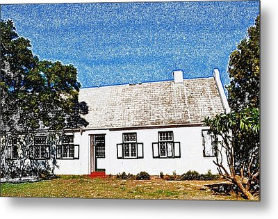 Farm House Metal Print by Werner Lehmann