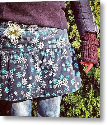 Fashion And Nature - Floral Skirt Metal Print