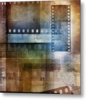 Film Negatives Metal Print by Les Cunliffe