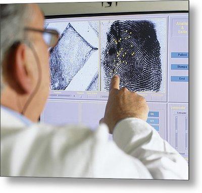 Fingerprint Analysis Metal Print by Mauro Fermariello