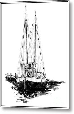 Fishing Boat Metal Print by Kelly Morgan
