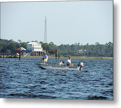 Fishing The Flats Metal Print by Marilyn Holkham