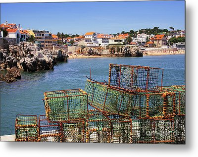 Fishing Traps Metal Print by Carlos Caetano