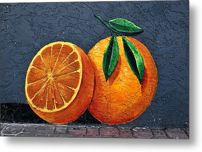 Florida Orange Metal Print by David Lee Thompson