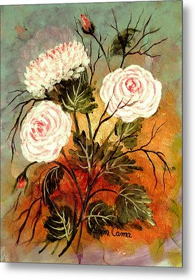 Flower Power Metal Print by Fram Cama