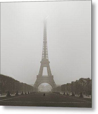 Foggy Morning In Paris Metal Print
