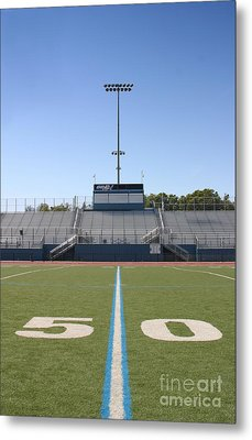 Metal Print featuring the photograph Football Field Fifty by Henrik Lehnerer