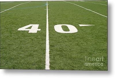 Football Field Forty Metal Print by Henrik Lehnerer