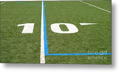 Metal Print featuring the photograph Football Field Ten by Henrik Lehnerer