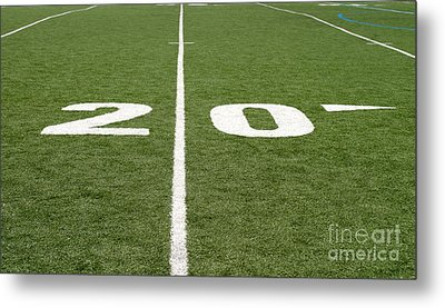 Metal Print featuring the photograph Football Field Twenty by Henrik Lehnerer