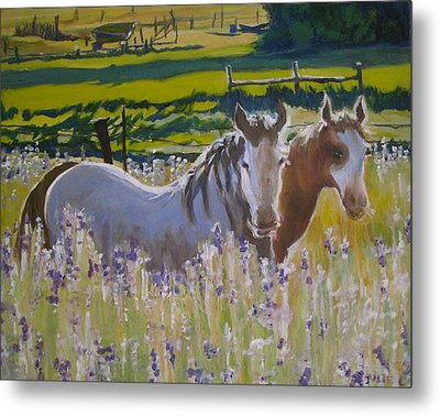 Metal Print featuring the painting for Pamela by Julie Todd-Cundiff