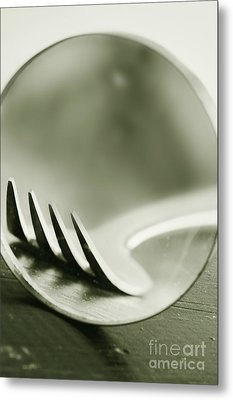 Fork Metal Print by HD Connelly