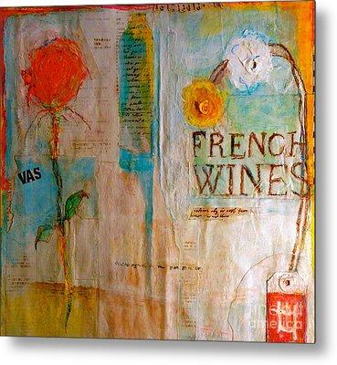 French Wines II Metal Print by Nancy Belle