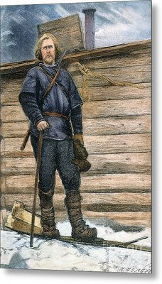 Fridtjof Nansen (1861-1930) Metal Print by Granger