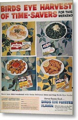 Frozen Food Ad, 1957 Metal Print
