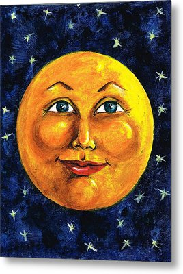 Metal Print featuring the painting Full Moon by Sarah Farren