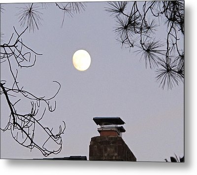 Full Moon Metal Print by Valia Bradshaw