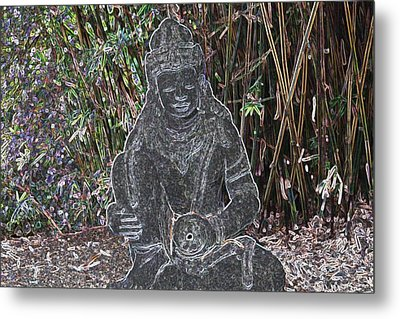 Metal Print featuring the photograph Garden Goddess by Donna  Smith