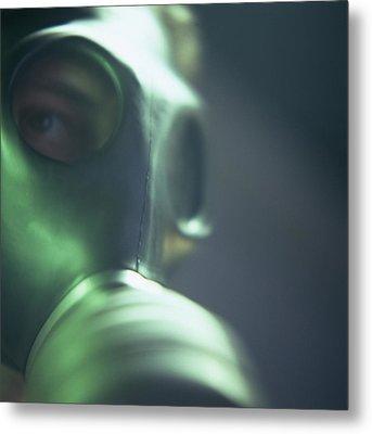 Gas Mask Metal Print