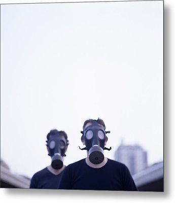 Gas Masks Metal Print