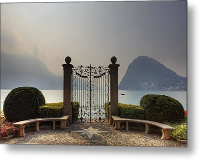 Gateway To The Lake Of Lugano Metal Print by Joana Kruse
