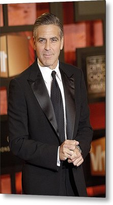 George Clooney At Arrivals For The Metal Print by Everett