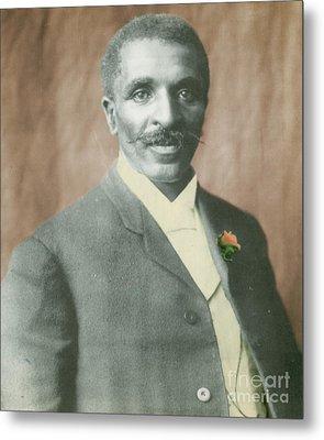 George W. Carver, African-american Metal Print by Science Source