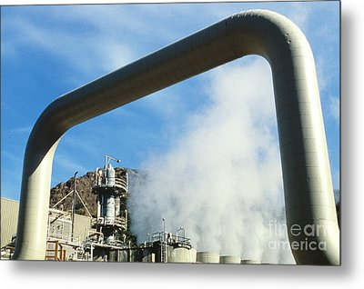 Geothermal Power Plant Metal Print by Science Source