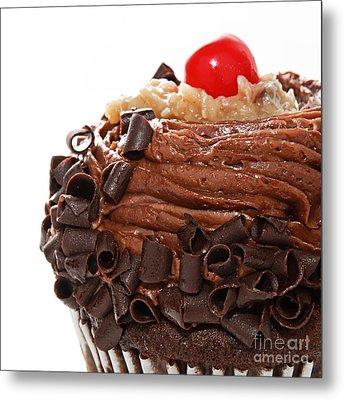 German Chocolate Cupcake 3 Metal Print by Andee Design