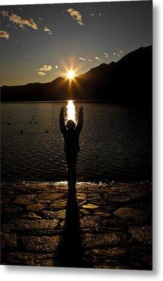 Girl With Sunset Metal Print by Joana Kruse