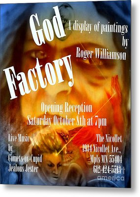 God Factory An Exhibition Of Paintings By Roger Williamson Metal Print