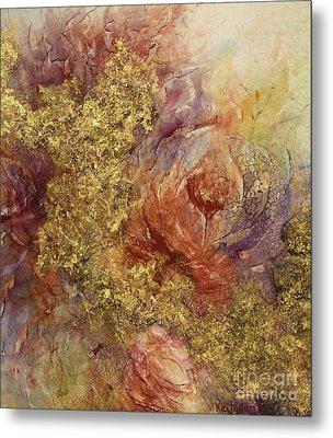 Golden Rose Path Metal Print