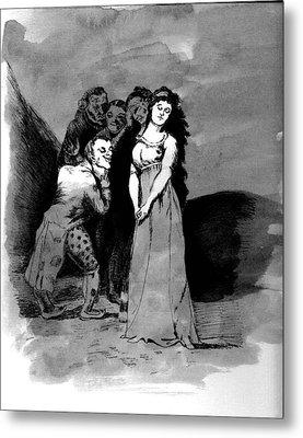 Metal Print featuring the drawing Goya Copy by Sarah Farren