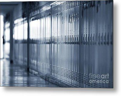 Grade School Lockers Metal Print by Will & Deni McIntyre