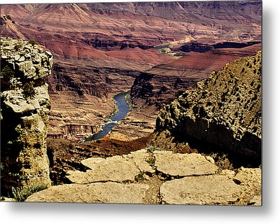 Grand Canyon Colorado River Metal Print by Bob and Nadine Johnston