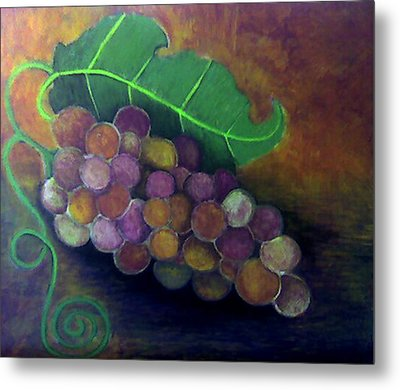 Metal Print featuring the painting Grapes by Monica Furlow