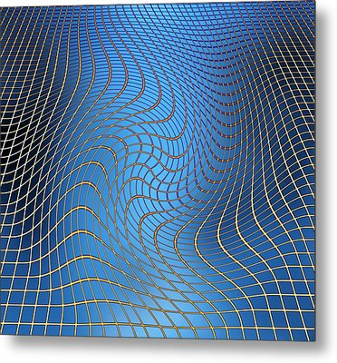 Gravity Waves In Space-time, Artwork Metal Print by Victor De Schwanberg