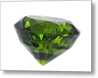 Great Emerald Isolated Metal Print