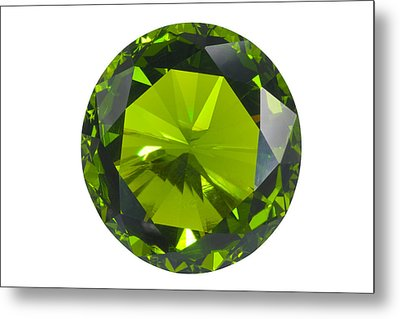 Green Gem Isolated Metal Print